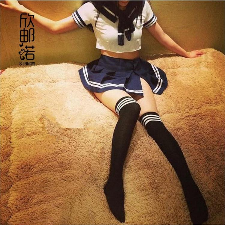 ملابس غريبة النساء الملابس الداخلية مثير ازياء المثيرة lenceria مثير مدرسة تأثيري طالب موحدة فتاة الزي اللباس + جوارب