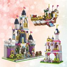 Architecture Royal Big Castle Garden Tower Ship Princess 3D Model DIY Diamond Mini Building Nano Blocks Toy Gift Collection andrei smirnov tenga 3d toy asanarchitecture model