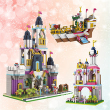 Architecture Royal Big Castle Garden Tower Ship Princess 3D Model DIY Diamond Mini Building Nano Blocks Toy Gift Collection(China)