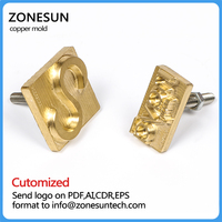 Customize Copper Brass Stamp Mold Personalized Wood Mold Leather Mold Wood Die Cut Leather Die Cut