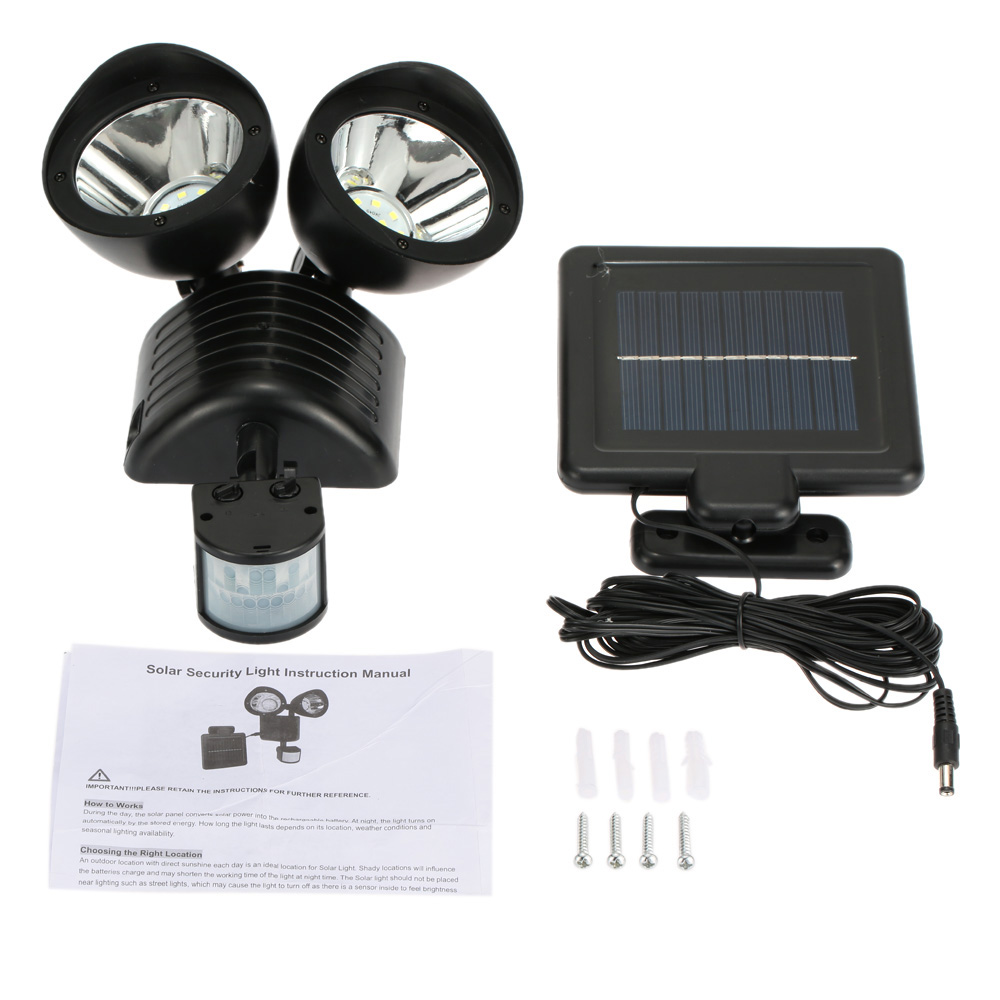 22leds solar powered wall lamp light rotatable adjustable double 1 we accept alipay west union tt all major credit cards are accepted through secure payment processor escrow 2 payment must be made within 3 days of aloadofball Images
