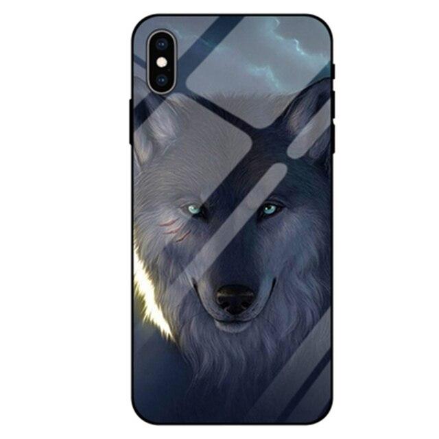 Pour xiaomi mi 8 étui écran dempreintes digitales beauté loup verre trempé étui pour xiaomi mi 8 ud 8ud coques de téléphone coque mi 8 ud couverture