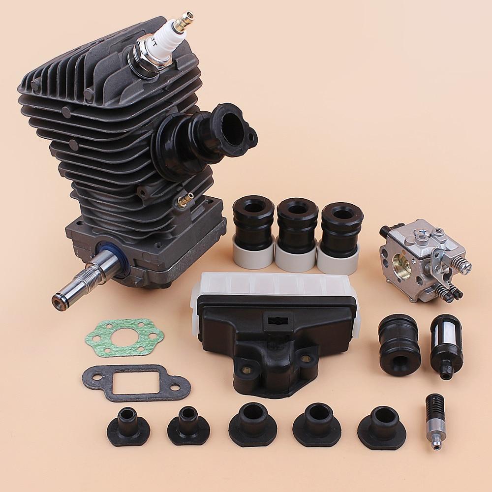 Engine Motor Assembly Cylinder Piston Carburetor AV Buffer Set Fit Stihl MS250 MS230 025 023 MS 250 230 42.5MM Chainsaw Spares