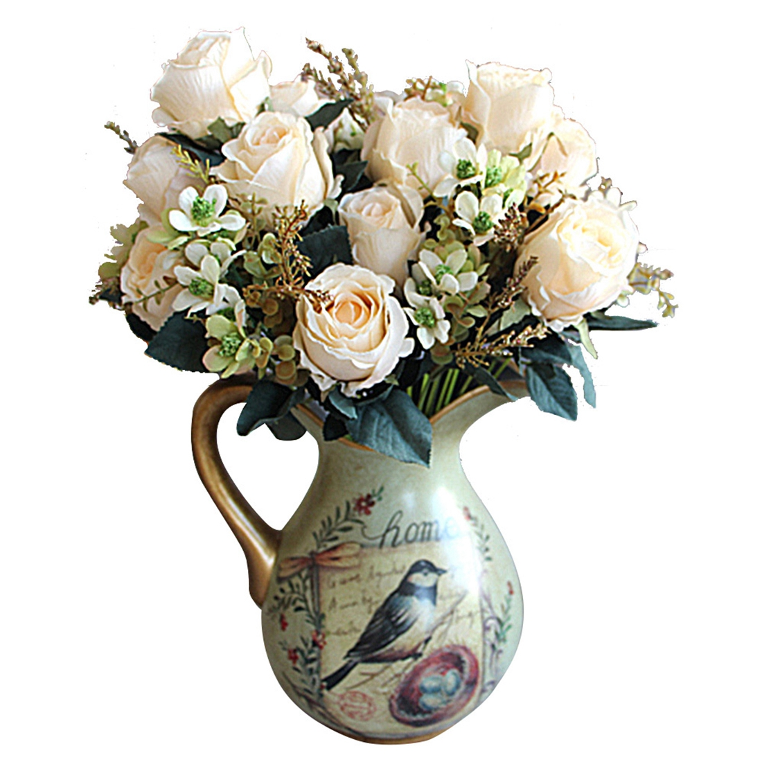 Beautiful charming delightful palace earl rose multi color beautiful charming delightful palace earl rose multi color artificial flowers artificial flowers wedding home decoration white in artificial dried izmirmasajfo Choice Image