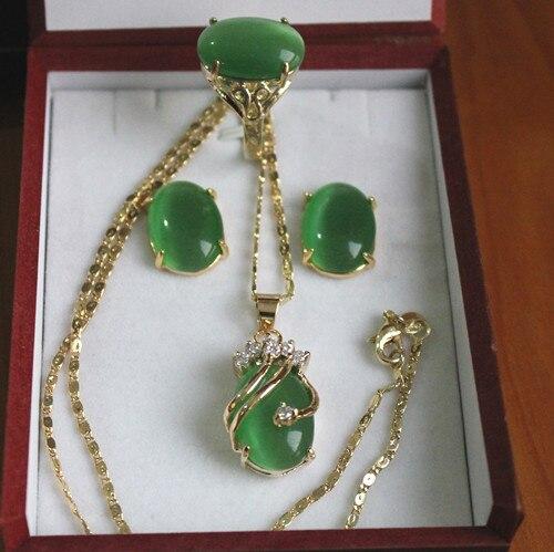 12X18 мм бусины Красный/Зеленый кошачий глаз камень кулон серьги кольцо ювелирный набор