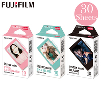 Fujifilm Pink Lemonade +Black + Sky Blue Fuji Instant Photo 30 Sheets Film For Instax Mini 8 9 70 7s 50s 50i 90 25 Share SP 1 2