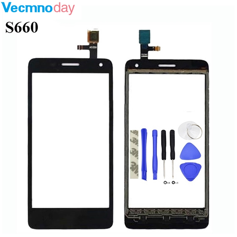Vecmnoday 4.7'' Touch Panel For lenovo S660 s 660 Touch Screen Digitizer Front Outer Front touch Glass Lens Sensor