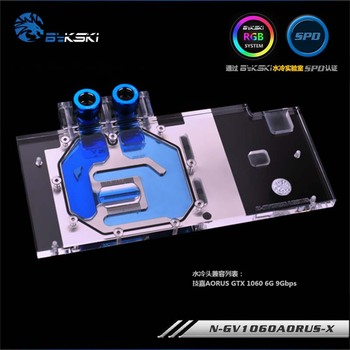 Bykski GPU Water Block for Gigabyte AORUS GTX1060 6G 9Gbps Full Cover Graphics Card water cooler