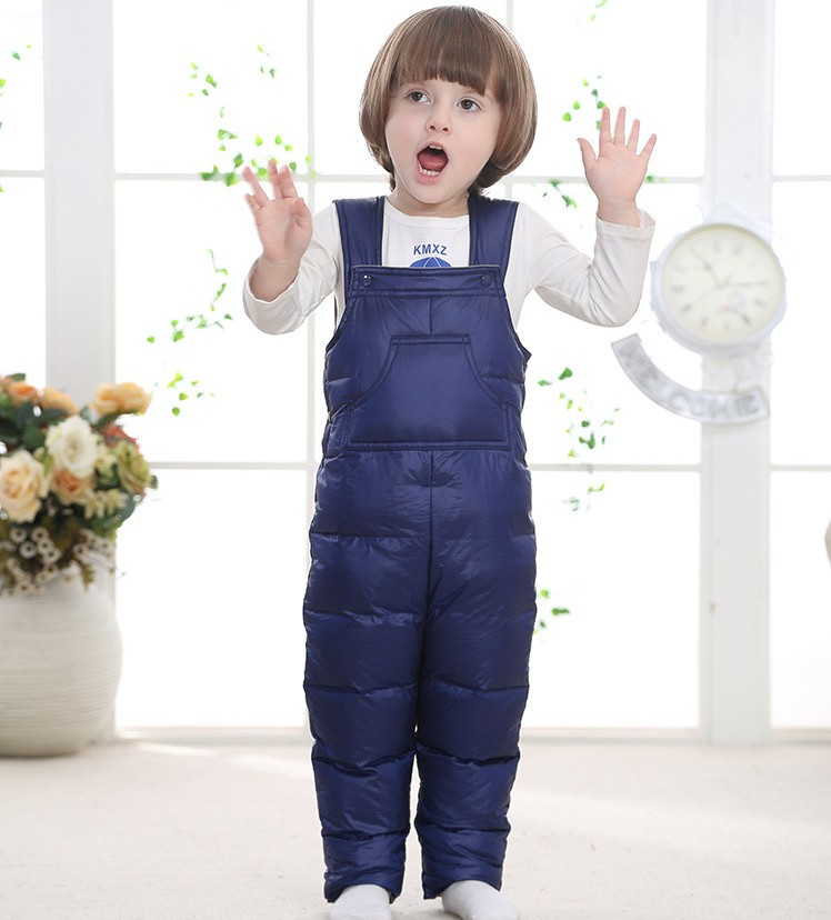 2018 Children kids winter down overalls infant toddler jumpsuit rompers for baby boy girl 2 3 4 belt bib pants fluff clothes 2018 new baby girl boy toddler winter rompers clothes infant hooded duck down sets jackets coats overalls 2 5y baby outwear