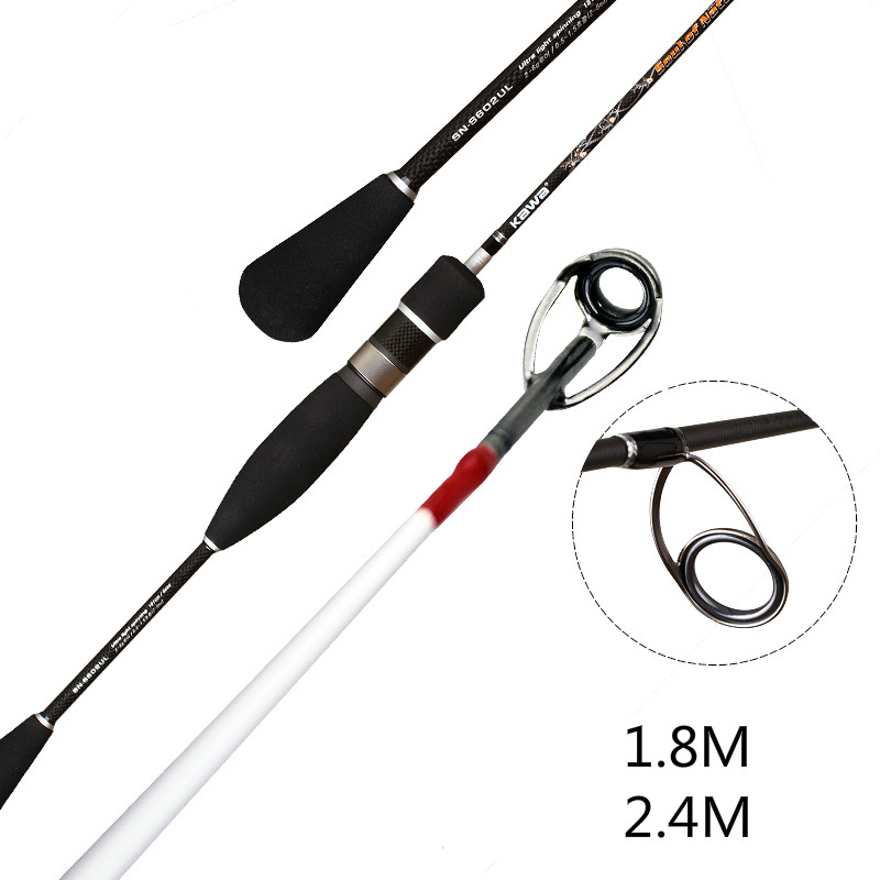 Lure Rod Fishing Rod Fishing Pole Super Light Super Fast Carbon Fiber Power UL 3 Section Spinning Lure Rod Fishing Tackle ecooda spinning casting fishing rod 50 200g lure weight portable super light carbon fiber fishing rod
