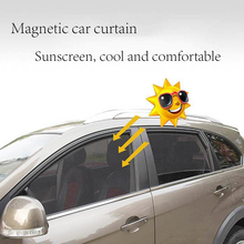 Magnetic Car Window Sunshade Curtain encrypted mesh fabric sunscreen no occlusion of sight magnetic sunshade Car Sun Shade