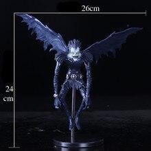 2018 nova nota de morte l ryuuku ryuk pvc figura ação anime coleção modelo brinquedo bonecas 24cm