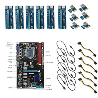 Professional 6 GPU Mining Motherboard 6pcs PCI E Extender Riser Card For BTC Eth Rig Ethereum