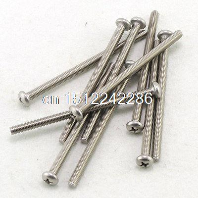 (50) Metric M5 80mm Stainless steel Cross Recessed Pan Head Screws