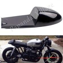 黒オートバイレトロシートヴィンテージこぶシートカフェレーサーサドルスクランブルフラットパン Bmw ドゥ KZ400 250 CB500