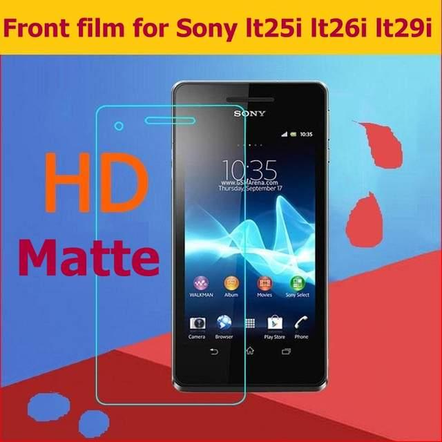 US $0 49 15% OFF HOT! LCD HD Clear Glossy film For Sony Xperia V LT25i S  LT26i TX LT29i Matte Film Anti glare Screen Protector Plastic Film+cloth-in