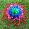 Alta calidad del envío 3D kite lotus con línea de la cometa fácil kite control ala pulpo kite ripstop tela de nylon hcxkite