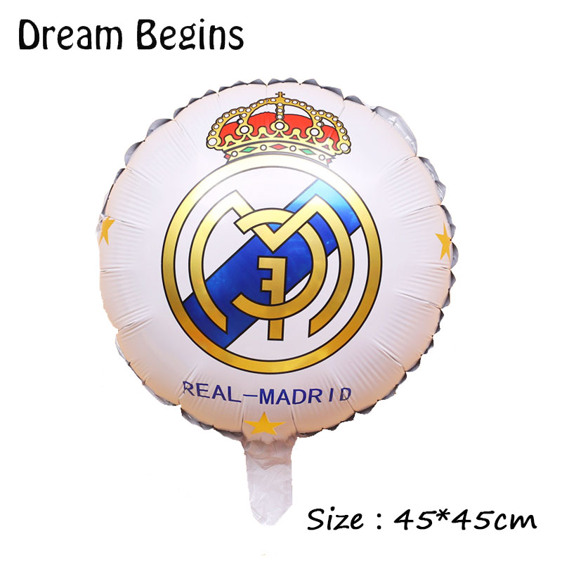 Image 3 - DB 2Pcs 18inch La Liga football league team match Barcelona Real Madrid jersey fans carnival bar celebration decoration balloons-in Ballons & Accessories from Home & Garden