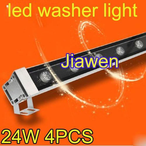4pcs/lot, 24W  1000*46*46mm led washer lamp waterproof IP65 High power LED Wall wash light Fedex free shipping 46