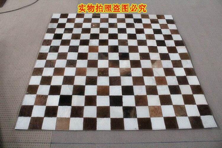Fashionable art carpet 100% natural genuine cowhide leather rugFashionable art carpet 100% natural genuine cowhide leather rug