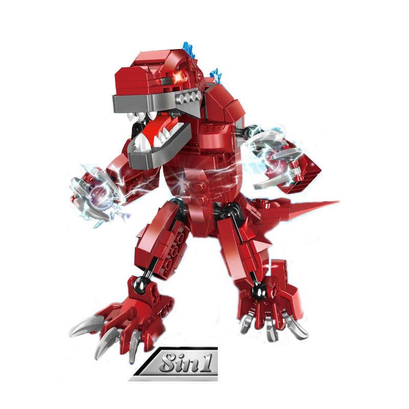 Горячая Япония Супер Герои ультра 8в1 Монстр красный динозавр строительный блок Ultraman Zero Ace Таро Темный заги X фигурки Кирпичи Игрушки