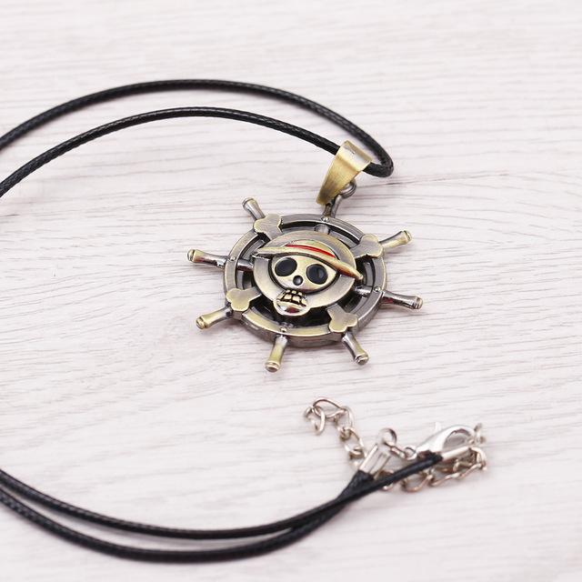 Skeleton Bronze Pendant Necklace Men Jewelry