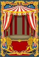 Laeacco Circus Tent Drum Pattern Baby Party Children  Photography Background Customized Photographic Backdrops For Photo Studio