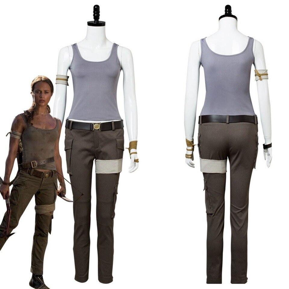 2018 Tomb Raider Costume Lara Croft Cosplay Costume Halloween
