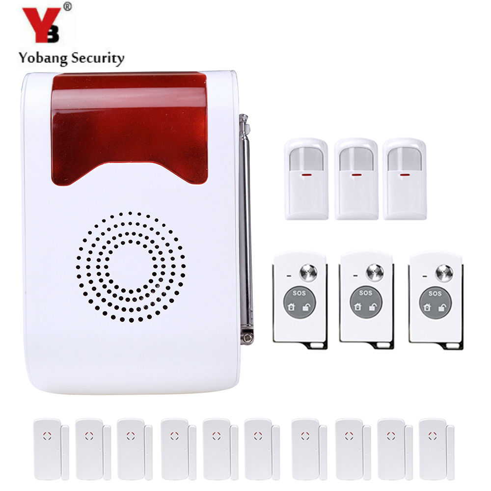 YobangSecurity Voice Prompt Anti-Theft Home Security Kit Alarm Wireless Remote Control PIR Motion Door Window Sensor Detector metal cockring penis cage with anti off ring stainless steel male chastity device adult sex toys cock rings for men cb6000s