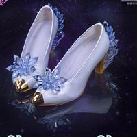 Anime Card Captor Kinomoto Sakura Clear Card OP Cosplay Shoes Ice Snow Angel CardCaptor Sakura Handmade Cos White Crystal Shoes
