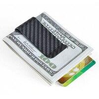 Real Carbon Fiber Money Clip Business Card Credit Card Clamp Cash Wallet Large Capacity Holder For