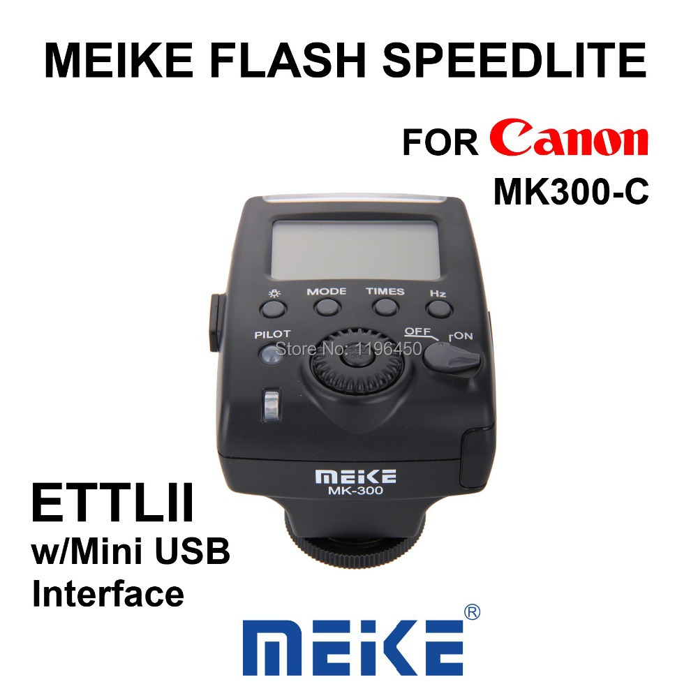 MEKE Meike Mini TTL LCD Flash Speedlite Light MK 300C for Canon 270EX II EOS 5D Mark II III 6D 7D 50D 60D 70D 600D 650D 700D цифровая фотокамера canon eos 7d mark ii body wi fi adapter 9128b128