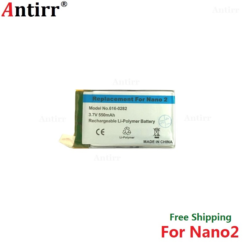 Antirr Original new Replacement Battery For ipod Nano2 2G 2nd Generation MP3 Li-Polymer Rechargeable Nano 2 616-0282 Batteries(China)