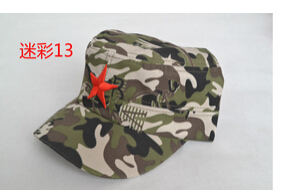 50 шт./партия Federal Express быстро в китайском стиле для женщин Мужская хлопковая Маскировочная шапка Регулируемая Повседневная бейсбольная кепка мягкая шапка - Цвет: 13