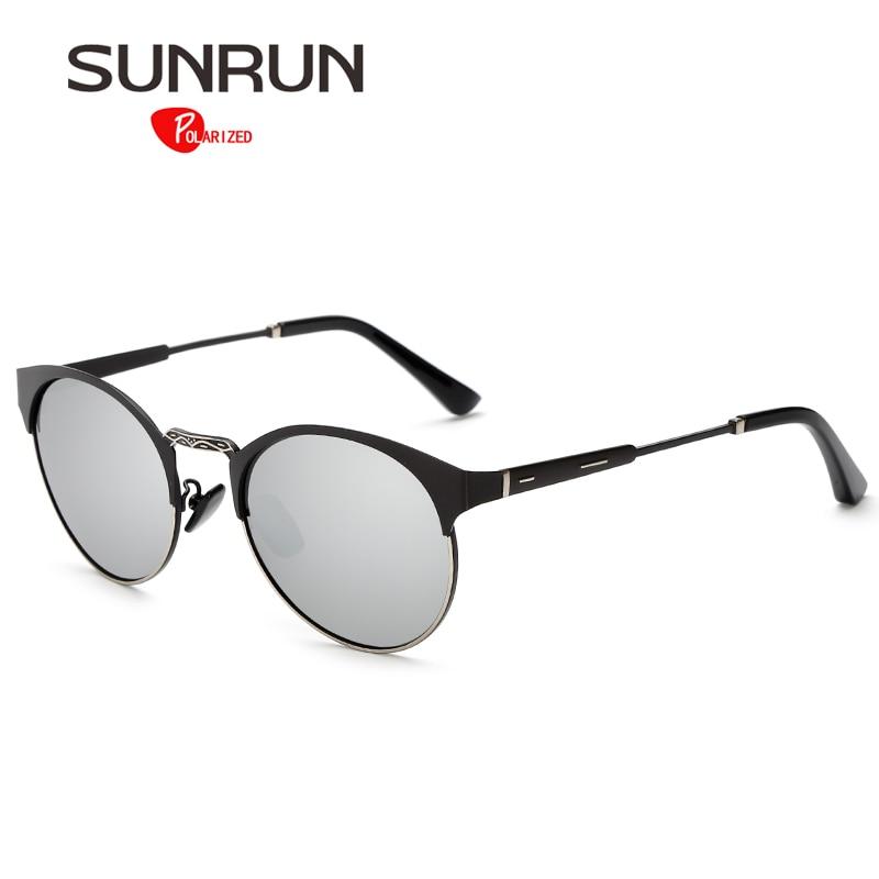 Sol run Gafas de sol polarizadas mujeres metal espejo redondo Sol Gafas  para hombres marca de diseño gafas lentes de sol mujer ks5105 6c60e42bf0df