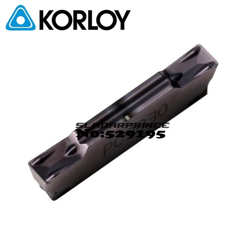 MGMN300 G PC9030 MGMN300 G NC3120 Two headed Cnc Cutting Korloy Carbide Coating Turning Insert
