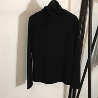Хлопковые блузки рубашки для мальчиков для женщин высокое качество 2018 с длинным рукавом высокое средства ухода за кожей Шеи пулове