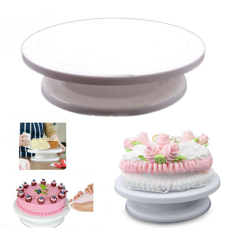 New DIY Cakes Decorating Icing Rotating Turntable Cake ...