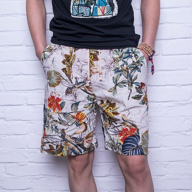 bba554195c Mens Comfy Cotton Print Beach Shorts 2018 New Fashion Summer Style Casual  Drawstring Loose Short Pants for Male Plus Size M-XXXL