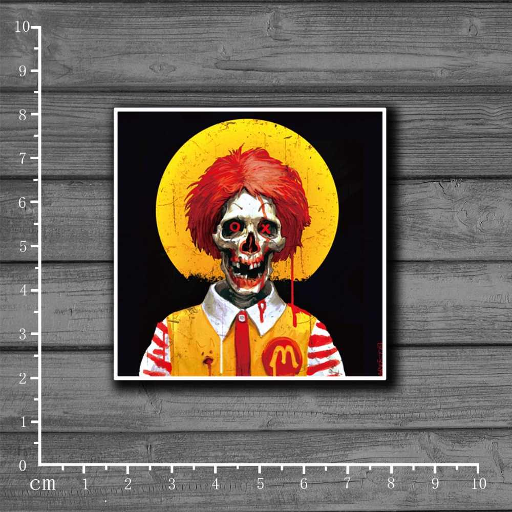 Zombie Clown PVC Glossy Laptop Notebook Huid Briefpapier Stickers Snowboard Luggag Decal Voor kid Speelgoed Koffer Stickers [single]