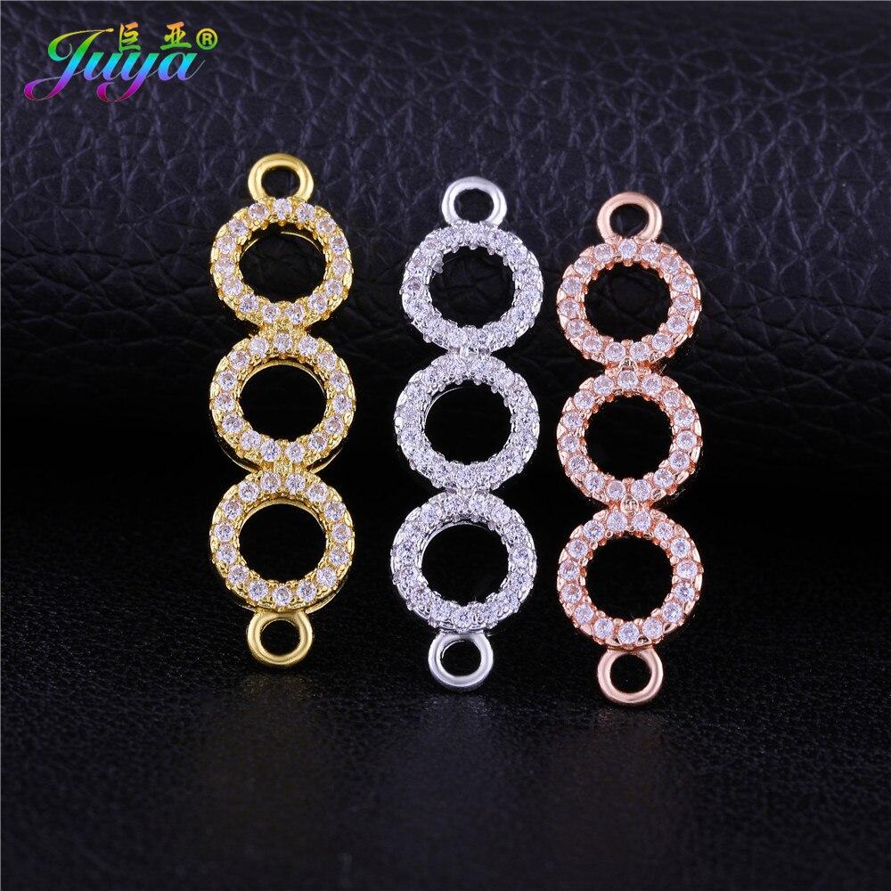 Juya DIY Ювелирный материал, золотые кольца бесконечности, коннекторы, аксессуары для женщин, браслеты, ожерелья, серьги, сделай сам изготовлен...