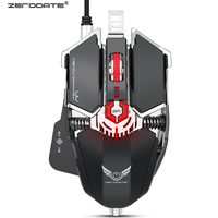 LD MS500 Mechanical Gaming Mouse 4000 dpi Macros Define Mouse Gamer Mice 10 Buttons USB Wired Computer Gaming Mause Professional