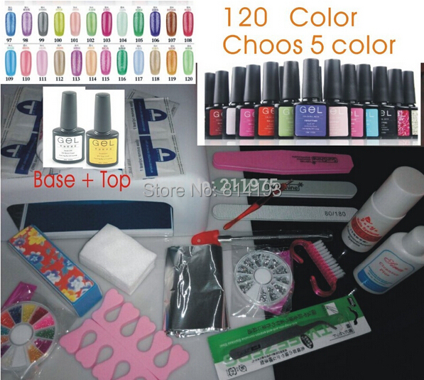 Wholesale factory price 120 Gel Colors Available gel Gelpoishgel nail polish uv gel nail set 36W lamp manicure set