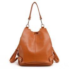 Fashion Women Backpacks Cowhide Women Bags leisure leather School mochila Bags