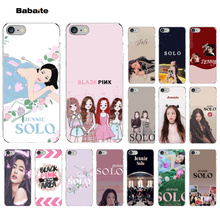 купить Babaite solo JENNIE Black pink  Novelty Fundas Phone Case Cover for iPhone X XS MAX  6 6s 7 7plus 8 8Plus 5 5S SE XR онлайн