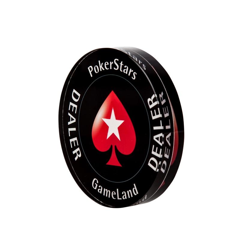 """""""Crystal PokerStars"""" pokerio žetonų prekeivio mygtukas ALL IN - Pramogos - Nuotrauka 4"""