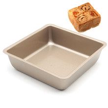 4 inch square baking pan Tray Oven Steel Trays Bread Baking Forms Pan Cookie Cake Pan Mold microwave dish baguette baking tray(China)