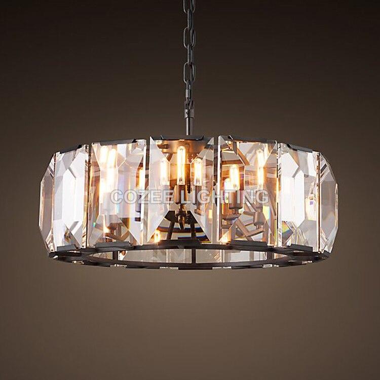 Moderne Vintage De Luxe Cristal Lustre Éclairage Lustres En Cristal Suspendus Lumière pour La Maison Hôtel Restaurant Décoration