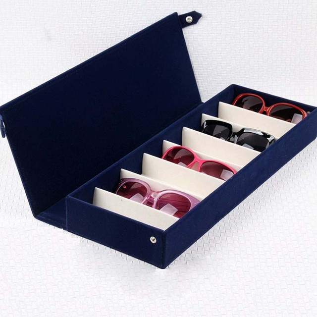 069e0f4795 Storage Organizer Box 8 Slot Glasses Eyeglass Sunglasses Storage Case  Display Stand Holder