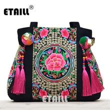 Ethnic Embroidery Canvas Handbag
